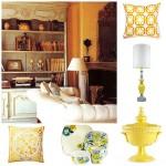 Dekorasyon trendleri sarı modeller