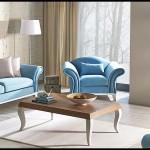 Kelebek mobilya mavi oturma grubu takımları