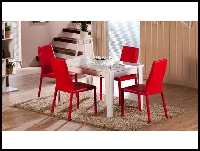 Mondi mutfak masası kırmızı