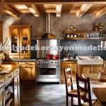 Ahşap fransız mutfak tasarımları