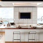 Beyaz modern fransız mutfak
