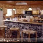 Taş mutfak dekorasyonu