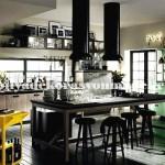 Koyu modern mutfak tasarimi