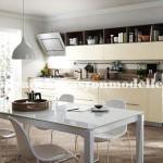 Krem beyaz modern mutfak tasarimi