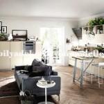 Krem modern mutfak tasarimi