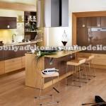Laminant döşeme modern fransız mutfak