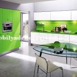 Modern açık yeşil mutfak tasarımları