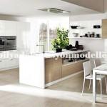 Modern beyaz krem mutfak tasarımları