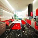 Modern kırmızı beyaz mutfak tasarımları