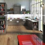 Modern koseli mutfak tasarimi