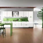 Modern yesil mutfak tasarimi