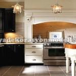 Siyah beyaz modern fransız mutfak
