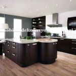 Yuvarlak koseli modern mutfak tasarimi
