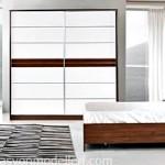 Midas kahverengi beyaz yatak odası takımı