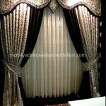 Boydan uzun gumus renklerde yatak odasi perde ve tul modeli