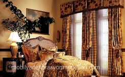 Yatak odası fon perde ve tül perde modelleri