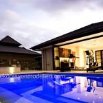 Havuzlu lüks ev tasarımı
