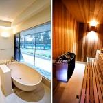Lüks evlerin banyo ve sauna tasarımı