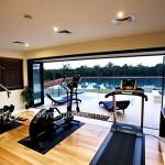 Lüks evlerin spor odası tasarımı