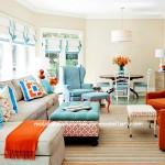 Renkli salon dekorasyon örnekleri