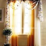 Sari beyaz yatak odasi perde ve tul modeli