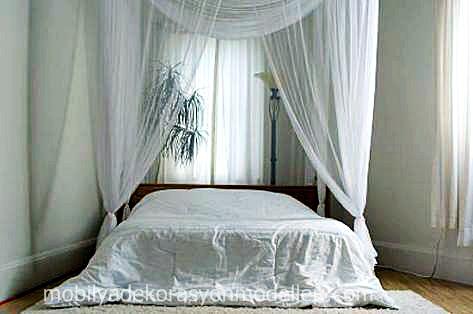 yatak-uzerine-beyaz-tul-yatak-odasi-perde-modeli