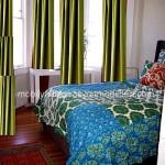 Yesil yatak odasi perde modeli