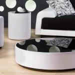 Modern tasarımlı oval orta sehpa modelleri