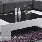 Modern tasarımlı siyah beyaz orta sehpa modelleri