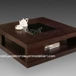 Modern tasarımlı kahverengi orta sehpa modelleri