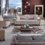 İstikbal mobilya modern krem renk koltuk takımı