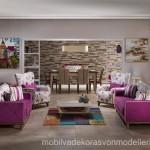 İstikbal mobilya pembe beyaz koltuk takımı modelleri