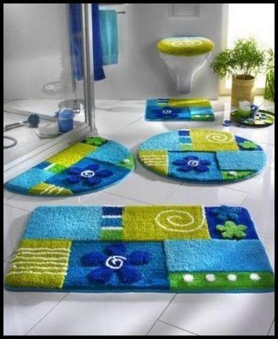 Renkli Banyo Halısı Modelleri