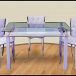 Cam Mutfak Masası Resimleri