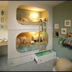 Bölmeli ranzalı çocuk odası dekorasyonu