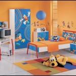Tururuncu mavi  çocuk odası dekorasyonu