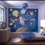 Uzay temalı çocuk odası dekorasyonu