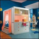 Üstü kapalı yataklı çocuk odası dekorasyonu