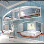 Geniş çok ranzalı çocuk odası dekorasyonu