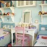 Açık mavi çocuk odası dekorasyonu