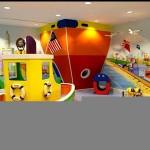 Oyun parkı temalı çocuk odası dekorasyonu