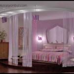 Değişik yatak odası dekorasyonu
