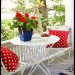 Küçük balkon masa sandalye