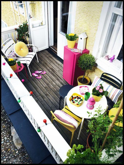 küçük balkon süslemeleri