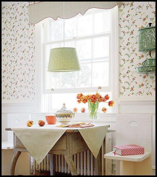 Yeşil Mutfak Duvar Kağıdı Modelleri