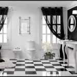 Siyah beyez banyo dekorasyon