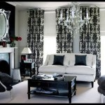 Siyah beyez oda dekorasyonu