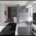 Siyah beyez yatak odası dekorasyonu