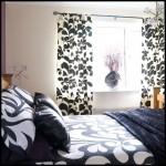 Siyah beyez yatak örtüsü