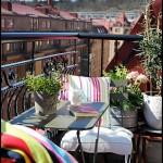 Ufak balkon dekorasyonu